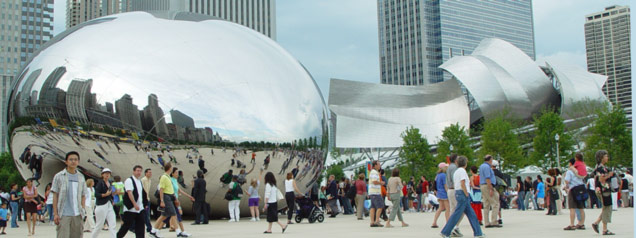 Cloud Gate and Pritzker Pavilion Opening Day